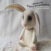 Куклы и игрушки ручной работы. Ярмарка Мастеров - ручная работа Валяный зайчик, войлочный заяц. Handmade.