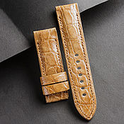 Украшения handmade. Livemaster - original item Crocodile Leather Watchband (20). Handmade.