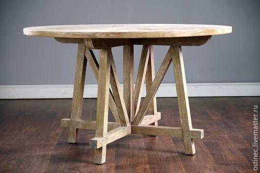 Мебель ручной работы. Ярмарка Мастеров - ручная работа. Купить Дубовый круглый обеденный стол Злата. Handmade. Стол