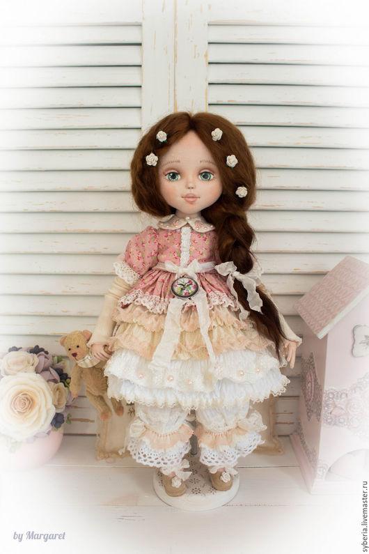Коллекционные куклы ручной работы. Ярмарка Мастеров - ручная работа. Купить Виктория. Текстильная коллекционная кукла. Handmade. Белый, подарок