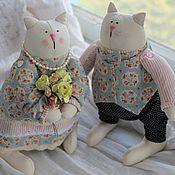 Куклы и игрушки ручной работы. Ярмарка Мастеров - ручная работа влюбленные коты. Handmade.
