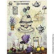 Бумага ручной работы. Ярмарка Мастеров - ручная работа Прованс. Кухня (CD01600) - рисовая бумага, А3. Handmade.