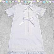 Работы для детей, ручной работы. Ярмарка Мастеров - ручная работа Крестильная рубашка для самых маленьких мальчиков. Handmade.