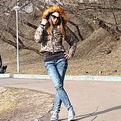 Одежда ручной работы. Ярмарка Мастеров - ручная работа ЛИКВИДАЦИЯ! Зимняя куртка с капюшоном , автоледи с мехом лисы. Handmade.