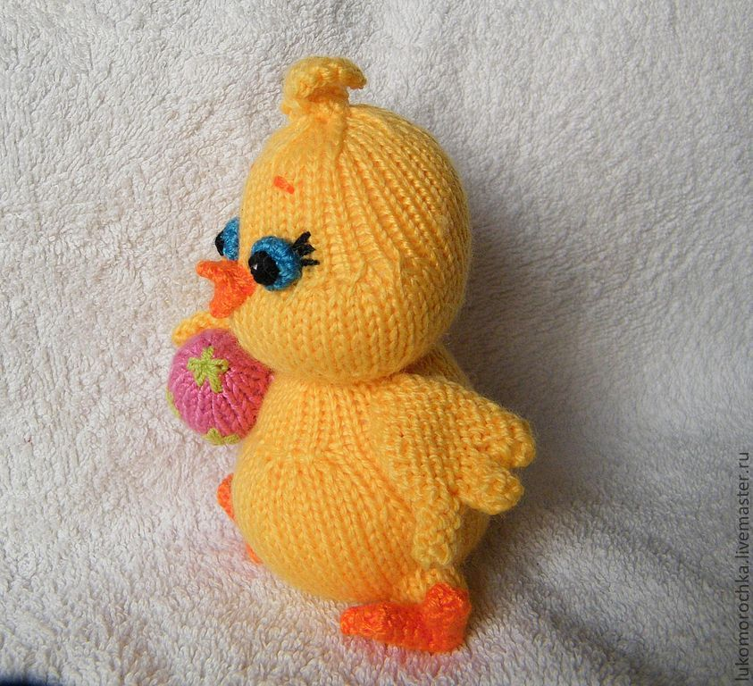 МК Цыплёнок с яйцом (спицы).