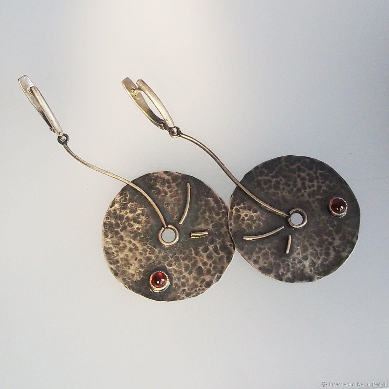 Earrings classic: Garnet earrings 'Wind of wandering', Earrings, Moscow,  Фото №1