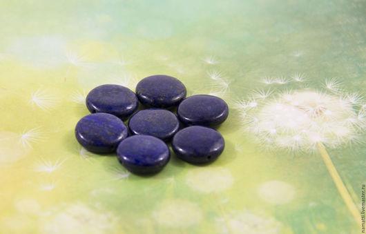 Для украшений ручной работы. Ярмарка Мастеров - ручная работа. Купить Лазурит, бусины-диски, 20мм. Handmade. Тёмно-синий