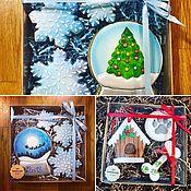 Подарки к праздникам ручной работы. Ярмарка Мастеров - ручная работа Пряники расписные новогодние, ручная работа. Handmade.