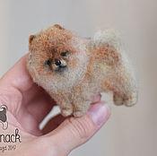 Украшения handmade. Livemaster - original item Felted brooch Red Pomeranian ( made of wool). Handmade.