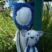 Куклы и игрушки ручной работы. Ярмарка Мастеров - ручная работа ангел и котенок. Handmade.