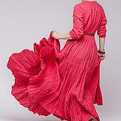 Одежда ручной работы. Ярмарка Мастеров - ручная работа Бохо платье льняное 4-14. Handmade.