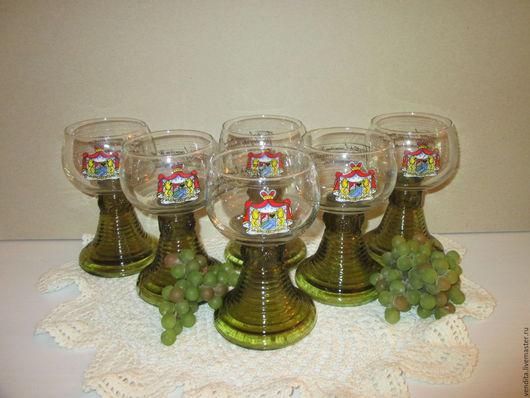 Винтажная посуда. Ярмарка Мастеров - ручная работа. Купить Старинные бокалы для вина. Handmade. Старина, подарок для мужчин, накрыть стол