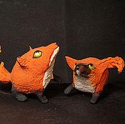 Куклы и игрушки ручной работы. Ярмарка Мастеров - ручная работа круглолисы  лис   лиса Кицунэ фигурка игрушка лисица. Handmade.