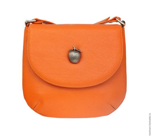 Женские сумки ручной работы. Ярмарка Мастеров - ручная работа. Купить Сумка с яблочком. Handmade. Оранжевый, апельсин, аторская сумка