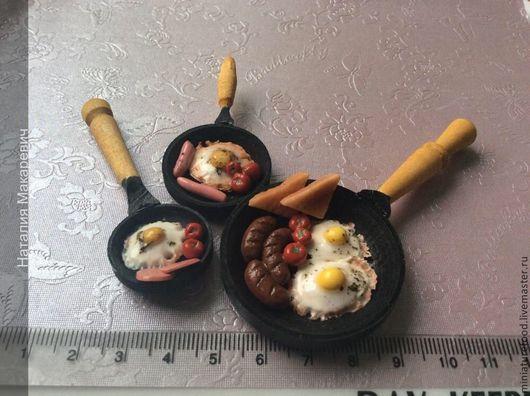 Фото кукольной еды. Ручная работа. Общее фото. Миниатюра `завтрак`