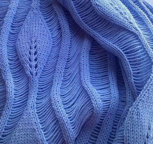 Ажурное платье с листиками, машинное вязание