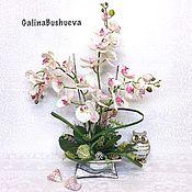 Композиции ручной работы. Ярмарка Мастеров - ручная работа «АМАНДА» имитация живой орхидеи.. Handmade.