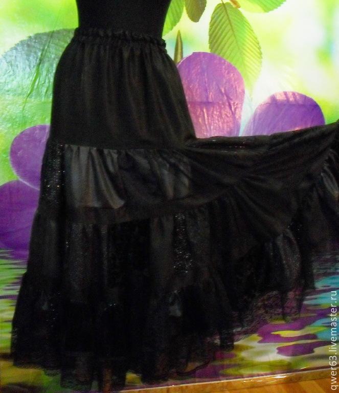 Рисунок юбка в пол