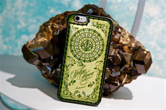 Для телефонов ручной работы. Ярмарка Мастеров - ручная работа. Купить Чехол для  iPhone  7/7 plus-5/ se/5s-6/6s/ 6 plus Yellow Flower. Handmade.