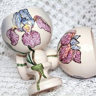 Посуда ручной работы. Ярмарка Мастеров - ручная работа Бокалы керамические Цветы. Handmade.