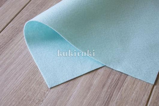 Валяние ручной работы. Ярмарка Мастеров - ручная работа. Купить Светло-голубой мягкий корейский фетр. Handmade. Фетр