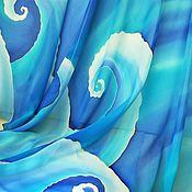 """Парео ручной работы. Ярмарка Мастеров - ручная работа Бирюзовое парео """"Морские волны"""". Handmade."""
