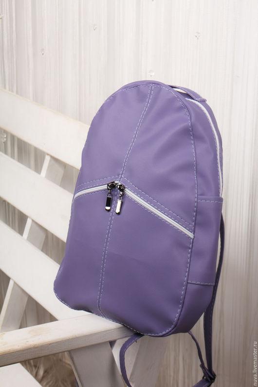 Рюкзаки ручной работы. Ярмарка Мастеров - ручная работа. Купить Сиреневый рюкзак. Handmade. Сиреневый, подарок девушке, однотонный
