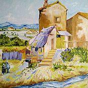 Картины и панно handmade. Livemaster - original item Oil painting Old mill (the Copy of van Gogh). Handmade.