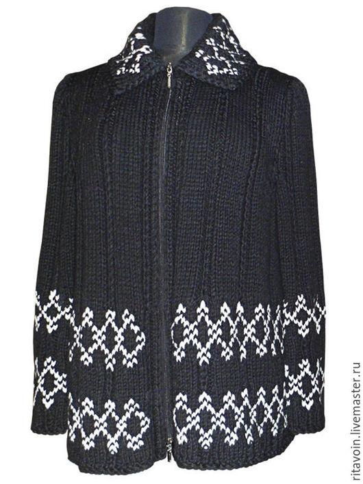 Кофты и свитера ручной работы. Ярмарка Мастеров - ручная работа. Купить Кардиган. Handmade. Черный, шерсть