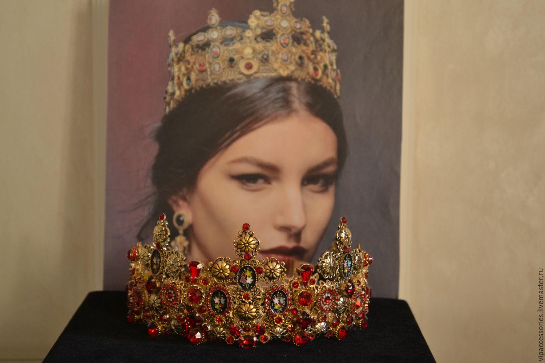 PRETTY WOMAN - 2  комплект с серьгами, Диадемы обручи, Москва, Фото №1