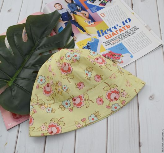 Шапки и шарфы ручной работы. Ярмарка Мастеров - ручная работа. Купить Панама для девочки. Handmade. Зеленый, панамка, детская одежда
