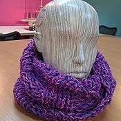 Аксессуары handmade. Livemaster - original item Purple knitted Snood. Handmade.