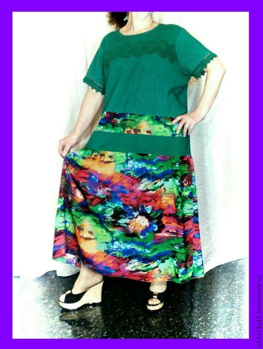 Платья ручной работы. Ярмарка Мастеров - ручная работа. Купить Платье Оверсайз - 225. Handmade. Комбинированный, платье трикотажное