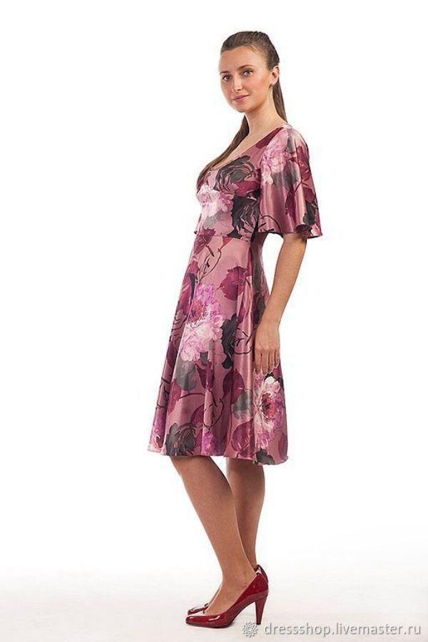 fc7db33c2e9 Заказать Платье с цветами - розовый. Радченко Екатерина. Ярмарка Мастеров