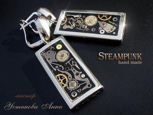 """Стимпанк ручной работы. Ярмарка Мастеров - ручная работа. Купить Авторские Серьги в стиле Стимпанк -  """"Lady Mechanika..."""" Steampunk. Handmade."""