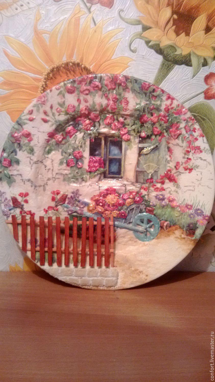 """Декоративная тарелка """"Домик в деревне"""", Plates, Minsk,  Фото №1"""