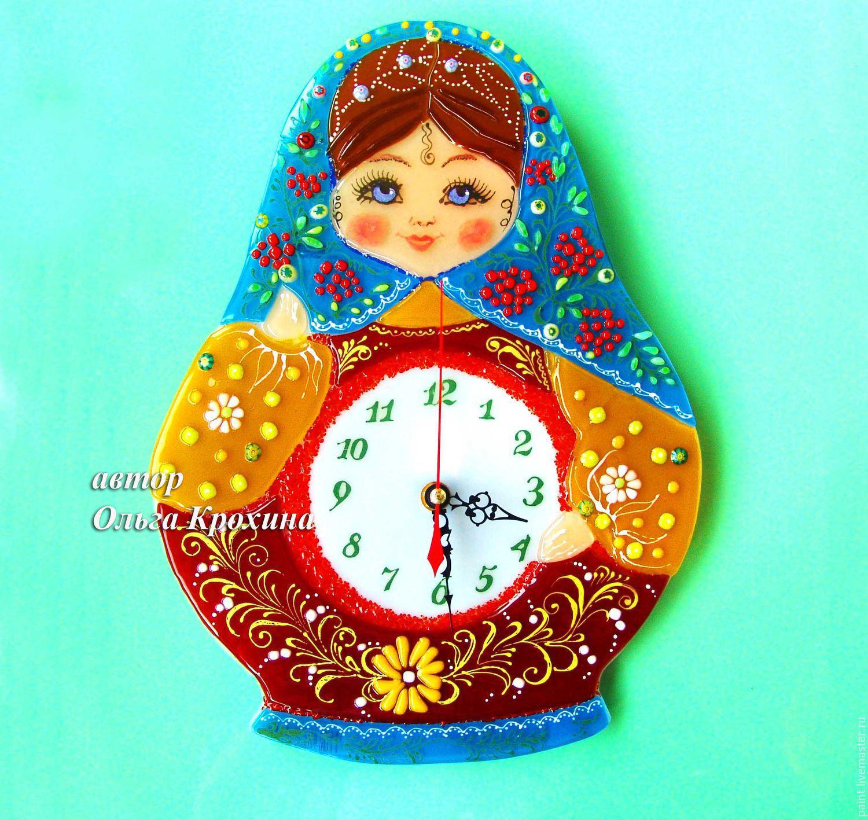 Watch glass fusing matryoshka glass wall clock shop online on clocks for home handmade livemaster handmade buy watch glass fusing matryoshka amipublicfo Images