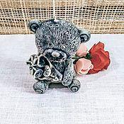Свечи ручной работы. Ярмарка Мастеров - ручная работа Свечи из воска - Мишки. Handmade.