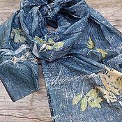 Аксессуары ручной работы. Ярмарка Мастеров - ручная работа Шелковый шарф Дождик, микс принт. Handmade.