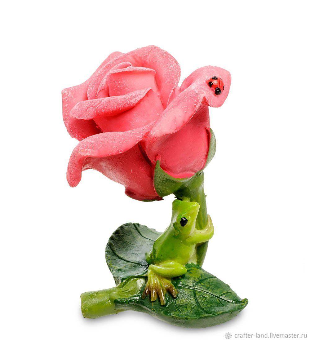 """Силиконовая форма для мыла/шоколада """"Роза с лягушкой"""" (3D), Формы, Истра,  Фото №1"""