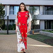 Одежда handmade. Livemaster - original item Chic floor - length dress made of viscose