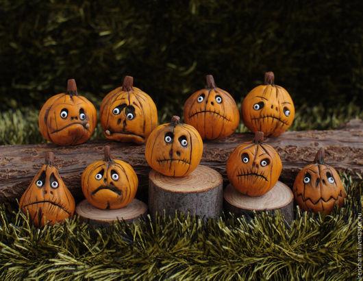 Еда ручной работы. Ярмарка Мастеров - ручная работа. Купить Тыквы для Хэллоуина. Handmade. Комбинированный, halloween, миниатюра, миниатюра для кукол