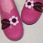 Обувь ручной работы. Ярмарка Мастеров - ручная работа тапочки из овечьей шерсти. Handmade.
