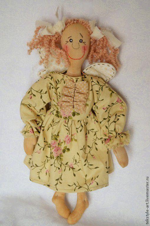 Коллекционные куклы ручной работы. Ярмарка Мастеров - ручная работа. Купить Мечтательница Тонечка. Handmade. Бежевый, примитивная кукла, муслин