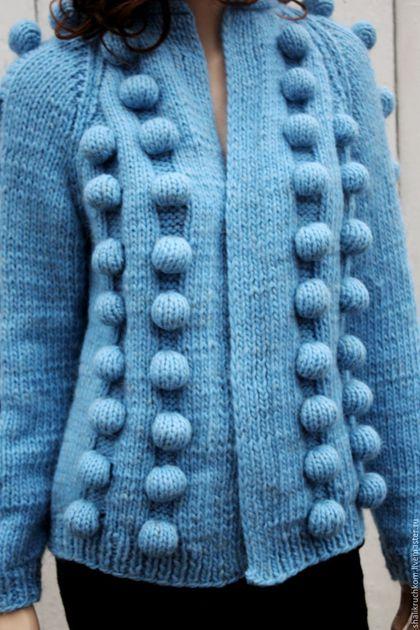 Кофты и свитера ручной работы. Заказать Вязаный кардиган в стиле шарики ручной работы. Кардиганы FDesign, шали. Ярмарка Мастеров.