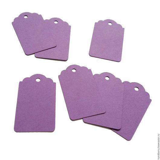 Упаковка ручной работы. Ярмарка Мастеров - ручная работа. Купить Бирки Тег 5 х 3 см фиолетовые. Handmade.