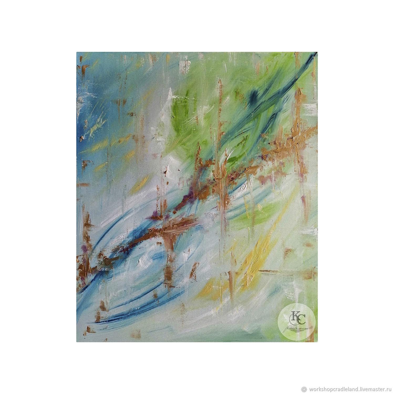 "Картина маслом на холсте на подрамнике: ""Абстракция в свете"", Картины, Москва,  Фото №1"