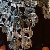 Шали ручной работы. Ярмарка Мастеров - ручная работа Шаль-Морской бриз. Handmade.