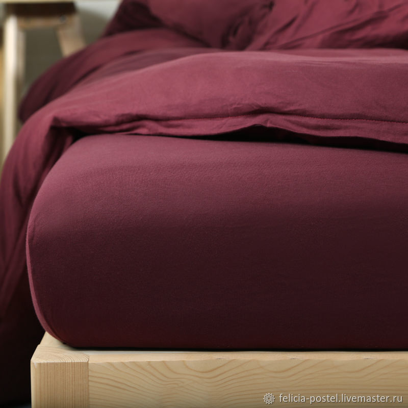 'Isabel' - LUX satin in the color of Burgundy wine!, Valances and skirts for the bed, Cheboksary,  Фото №1