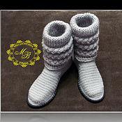 Обувь ручной работы handmade. Livemaster - original item knitted shoes. Women`s boots. Spring, fall. Knitted ladies shoes.. Handmade.